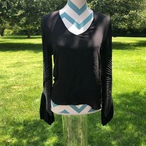 Classy black Parker blouse with silver beading xs